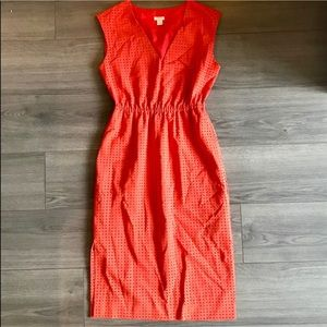 J. Crew Midi Dress in Laser Cut Pattern